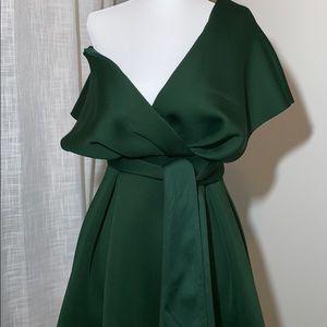 ASOS Dresses - ASOS Fallen Shoulder Prom Dress with Tie Detail